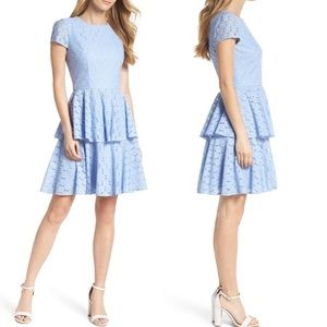 NEW Gal meets Glam daisy lace tiered dress 20